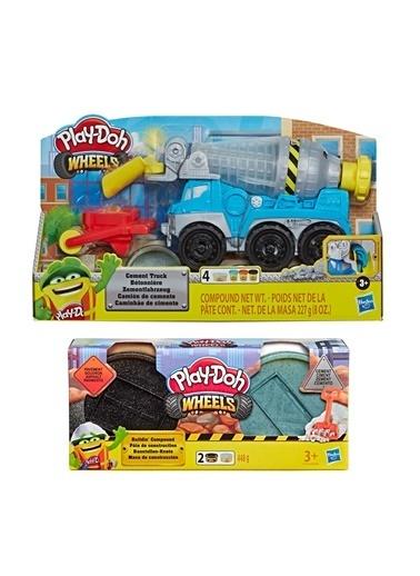 Hasbro Play-Doh Çalişkan Çimento Kamyonu Ve İnşaat Hamuru (Çimento Ve Asfalt) Renkli